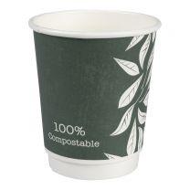 Kaffebæger Green Leaves 24 cl - 500 stk