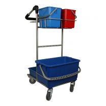 Rengøringsvogn mini - 28 liter drypspand