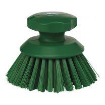 Skurebørste rund - stiv - grøn