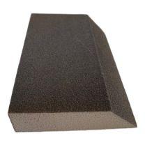 Slibemåtte grå m skrå kant 125x90x25mm