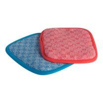 Rekola håndskure-pude microfiber, rød