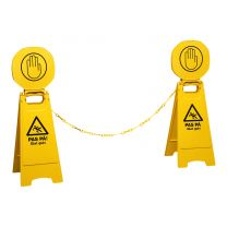 Signalskilt: Pas på! glat gulv