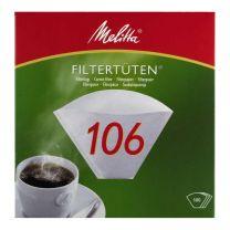 Kaffefilter Melitta 106,  hvid, 100 stk.
