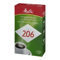 Pyramidefilter Melitta 206, hvid 200 stk